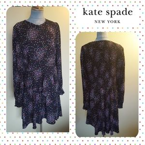 KATE SPADE CONFETTI long sleeve dress